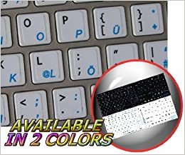 0ec592ad2a1c MAC GERMAN KEYBOARD STICKERS ON WHITE ... - Amazon.com