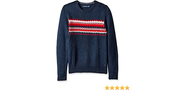 Nautica Men's Fair Isle Sweater at Amazon Men's Clothing store: