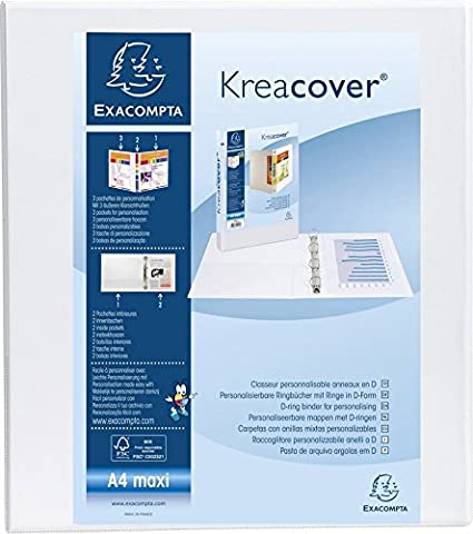 Amazon.com: Exacompta Kreacover - Archivador de anillas (A4 ...