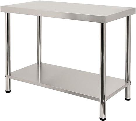 LARS360 Tavolo da lavoro in acciaio inox, per Cucina