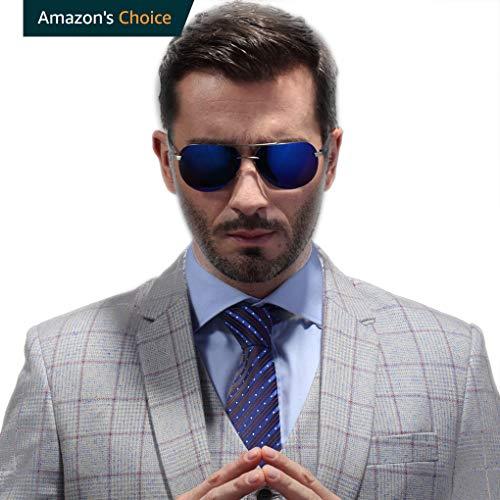 GEELOOK Premium Military Style Classic Aviator Sunglasses, Polarized, 100% UV ()