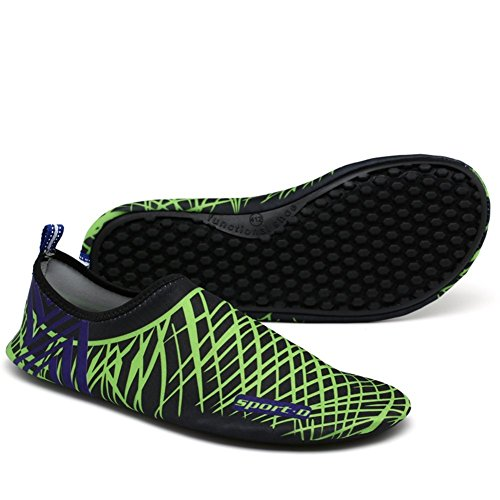 Aux iLory Chaussures D'eau Plage Aquatiques de Plage Chaussures Nus Hommes Chaussures de L'eau Piscine Noir Femmes Chaussures Pieds Et XHHRqrxB