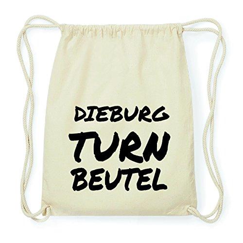 JOllify DIEBURG Hipster Turnbeutel Tasche Rucksack aus Baumwolle - Farbe: natur Design: Turnbeutel
