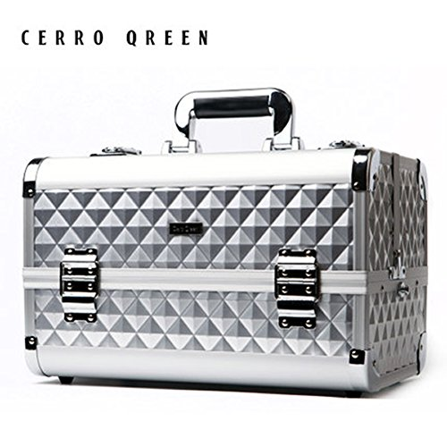 CERROQREEN Fashion Pro Portable Makeup Organizer Artists Cosmetics Train Case by CERROQREEN