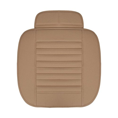 Price comparison product image 50 x 52CM Breathable Leather Bamboo Car Seat Cover,  Universal Auto Chair Cushion Pad Mat , Tuscom (Beige)