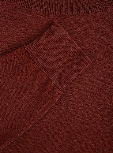 oodji Ultra Mujer Jersey Básico con Cuello Redondo Rojo (4900N)