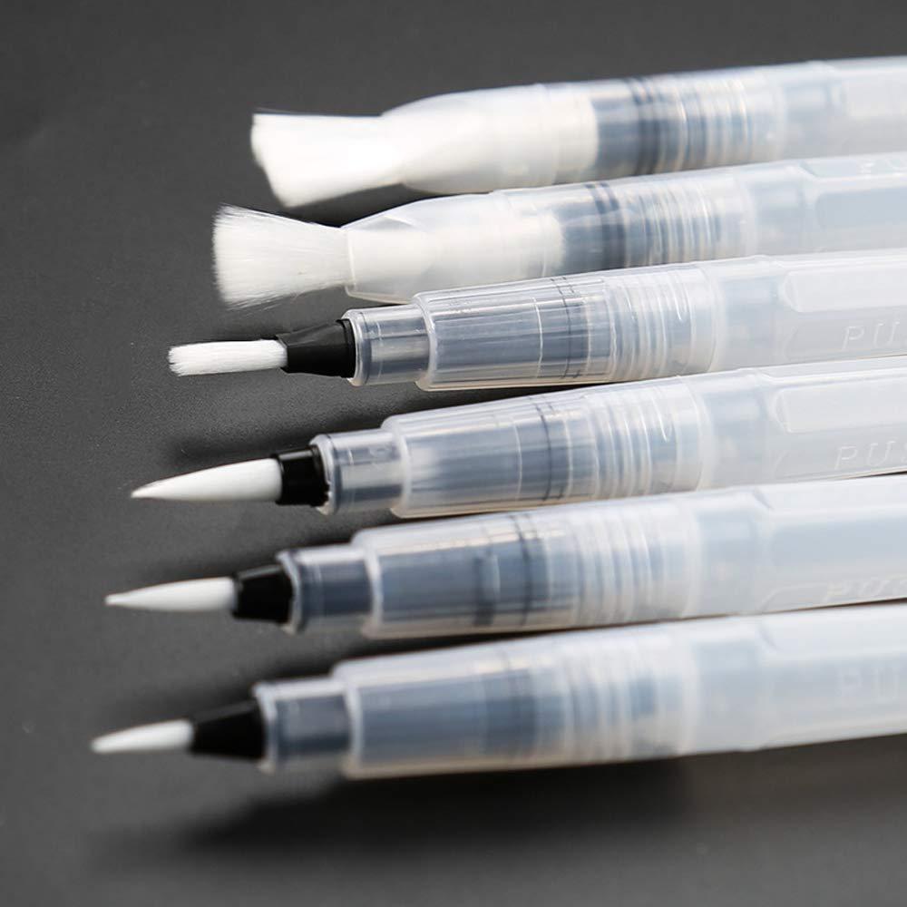 水彩絵筆 詰め合わせ T IPS水溶性カラーペン レタリング クラフト 絵画 グラフィティ 洗えるアート用品 ポータブル6本セット one size  Set-6 B07M6MZ4RR
