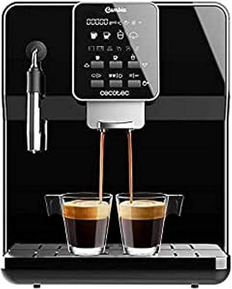 Cecotec cafetera megautomática Power Matic ccino 6000 Serie Nera. 19 Bares,1 2 cafés, Sistema de rápido Calentamiento, Pantalla LCD, depósito café 250