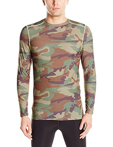 Wolverine Men's Performance Baselayer Long Sleeve Shirt, Green Camo, Large ()