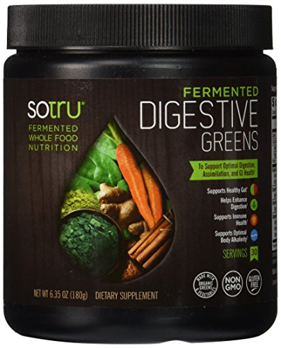 SoTru Fermented Digestive Greens Supplement, 180 Gram Digestive Greens