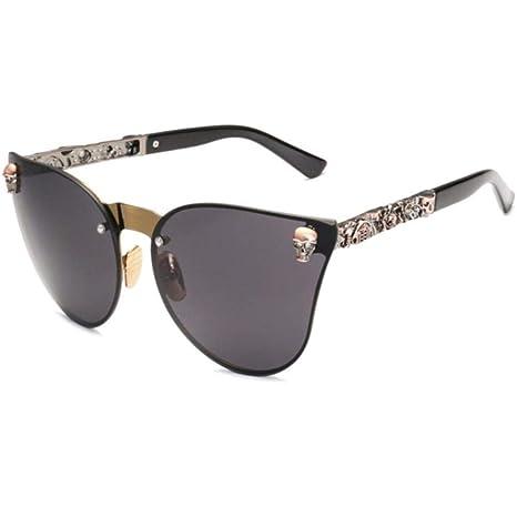 Sxcyu Gafas de Sol Calavera Gafas de Sol con Ojo de Gato ...