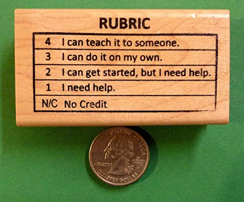 OutletBestSelling Proficiency Rubric 4321NC, Teacher's Wood Mounted Rubber Stamp