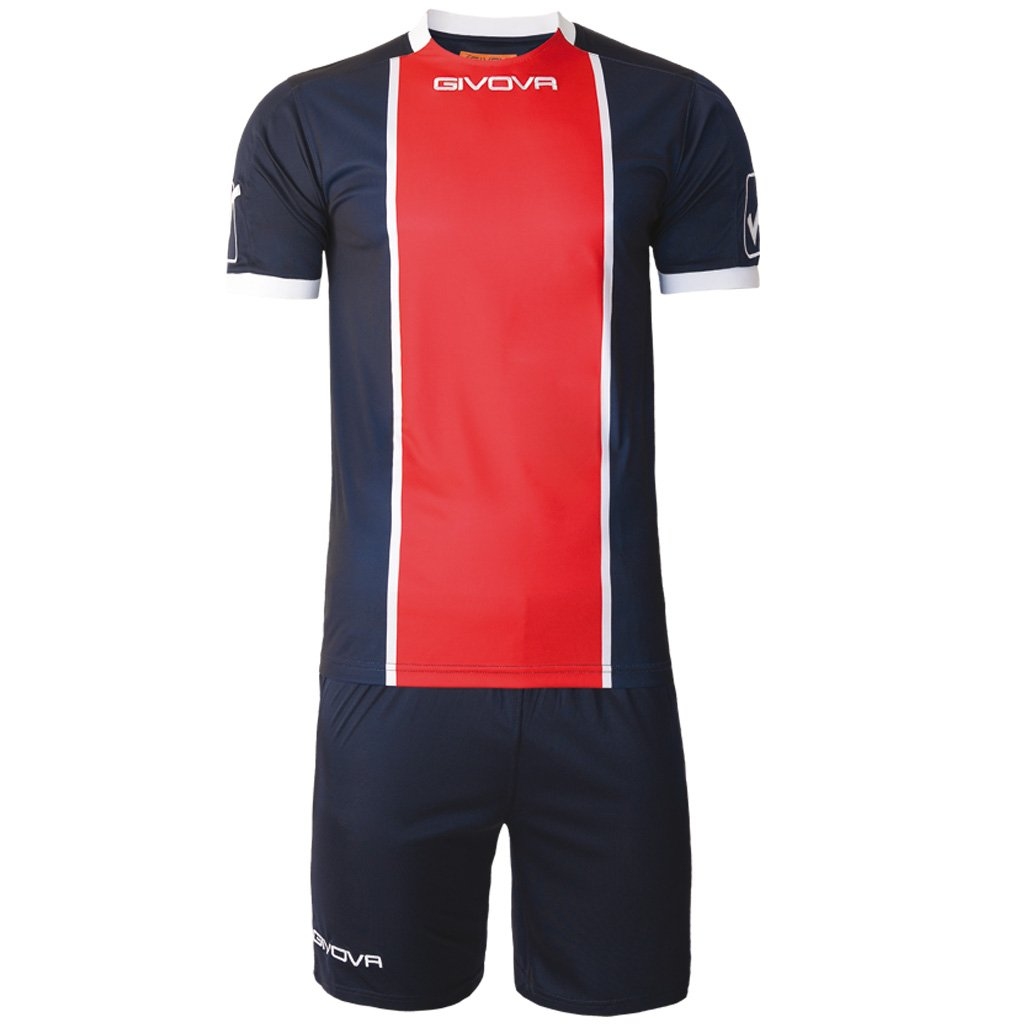 TALLA L. Givova, kit paris, azul /rojo, L