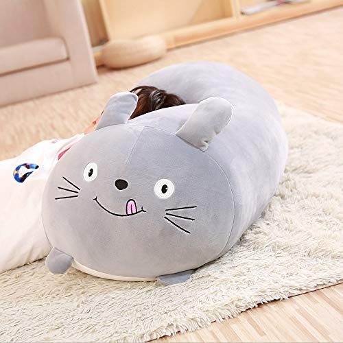 GOONEE Animal Cartoon Pillow Cushion Cute Fat Dog Cat Penguin Pig Frog Plush Toy Lovely Kids Birthyday Gift - Stuffed Animal Pillow - 10 inch_Totoro - Up Cuddle Hugging Bear Adults Pillows Super