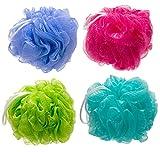 The Miracle Shop 4-Pack Mesh Pouf Bath Sponge Eco-Friendly Quality Mesh Shower Sponge