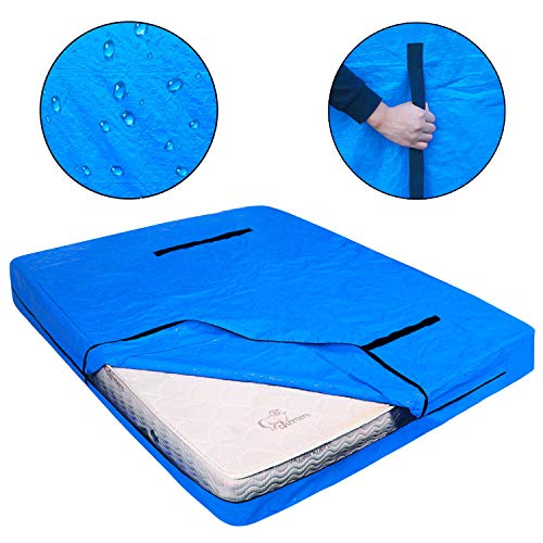 LLYWCM Reusable Mattress Bags for Moving - Extra Thick Mattress Protection Cover with Heavy Duty Handles and Strong Zipper - King, Queen, Full, Twin Size Mattress Protector for Storage (Queen)