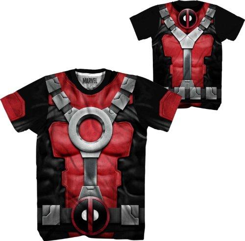 [Mad Engine Marvel Comics Deadpool Performance Athletic Costume T-Shirt (Adult XXX-Large)] (Marvel Cable Costume)
