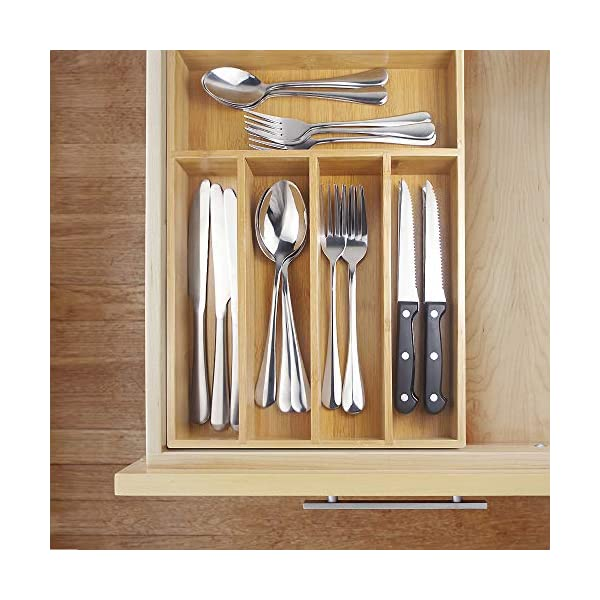 Teivio 24-Piece Silverware Set, Flatware Set Mirror Polished, Dishwasher Safe Service for 4, Include Knife/Fork/Spoon… 5