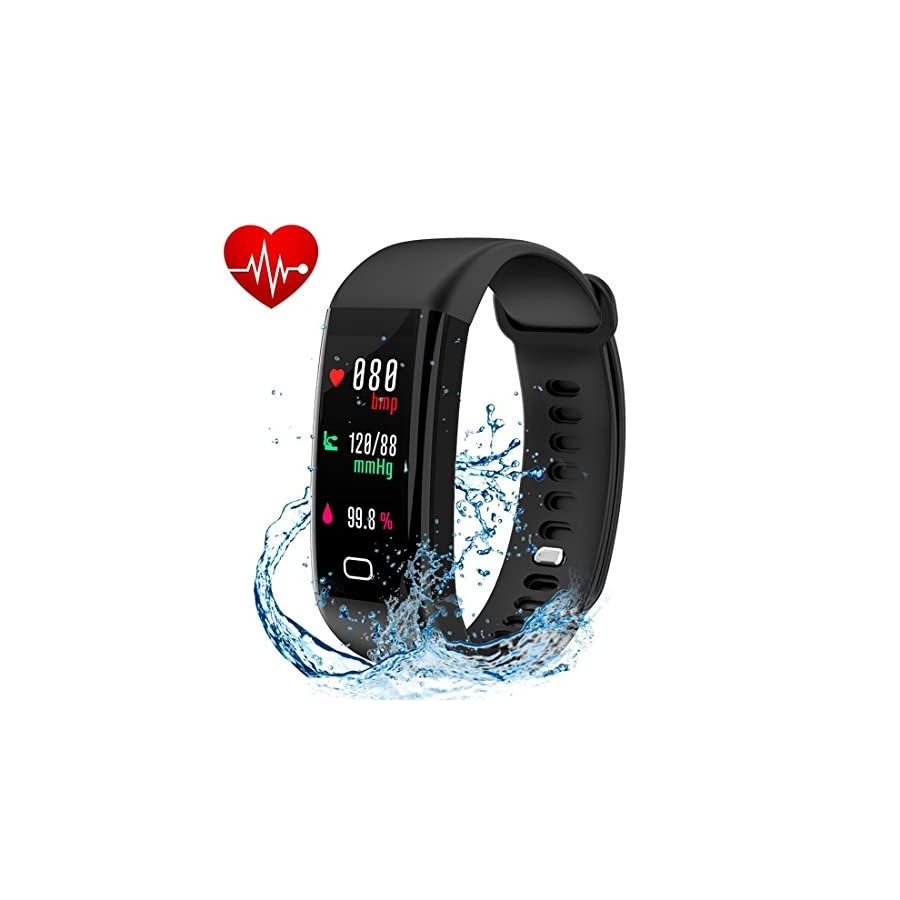 Letuboner Today 50% Off Fitness Tracker with Heart Rate Monitor,Color Screen Activity Tracker,IP68 Waterproof Smart Wristband Pedometer