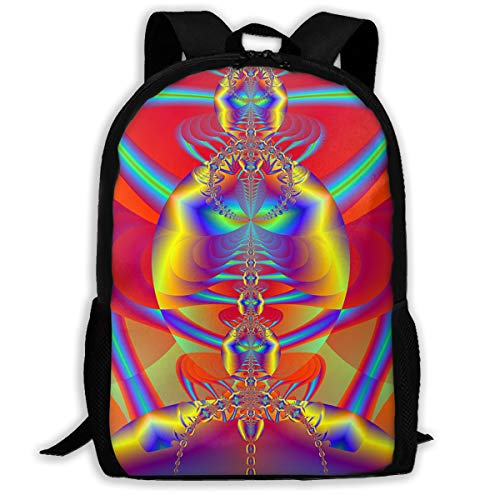 UYILP Rainbow Spider Adult Premium Travel Backpack, Water-Resistant Big Business College School Bookbag Daypack,Rucksack, Laptop Bag for ()