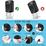 Portable Air Conditioner Fan, KUUOTE Personal Space Air Cooler Quiet Desk Fan Mini Evaporative Cooler with 7 Colors Night Light, Air Circulator Humidifier Misting Fan for Home Office Bedroom, Black
