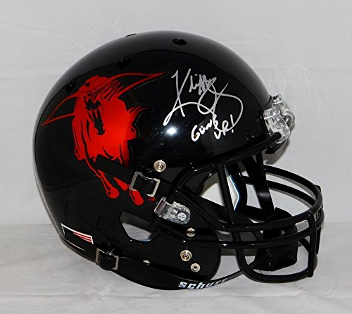 Kliff Kingsbury Signed Texas Tech Red Raiders F/S Helmet W/ Guns Up- W Auth - JSA Certified - Autographed College Helmets