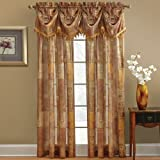 Chapel Hill by Croscill Madagascar Sheer T-Panel, 84-Inch, Spice