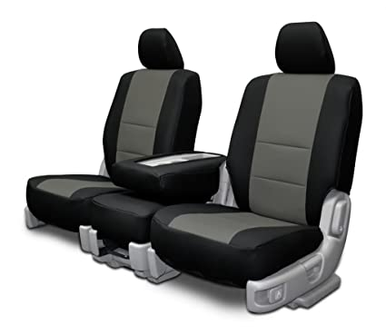 Admirable Custom Fit Seat Covers For 11 16 Ford Super Duty 40 20 40 Seats Charcoal On Black Leatherette Machost Co Dining Chair Design Ideas Machostcouk