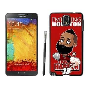 New Custom Design Cover Case For Samsung Galaxy Note 3 N900A N900V N900P N900T Houston Rockets James Harden 1 Black Phone Case