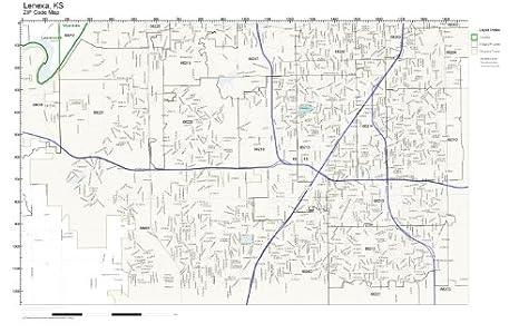 Amazon.com: ZIP Code Wall Map of Lenexa, KS ZIP Code Map ...