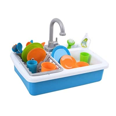 Spark Kitchen Sink and Spark Create Imagine Microwave Set Red and Blue Toy Bundle: Toys & Games