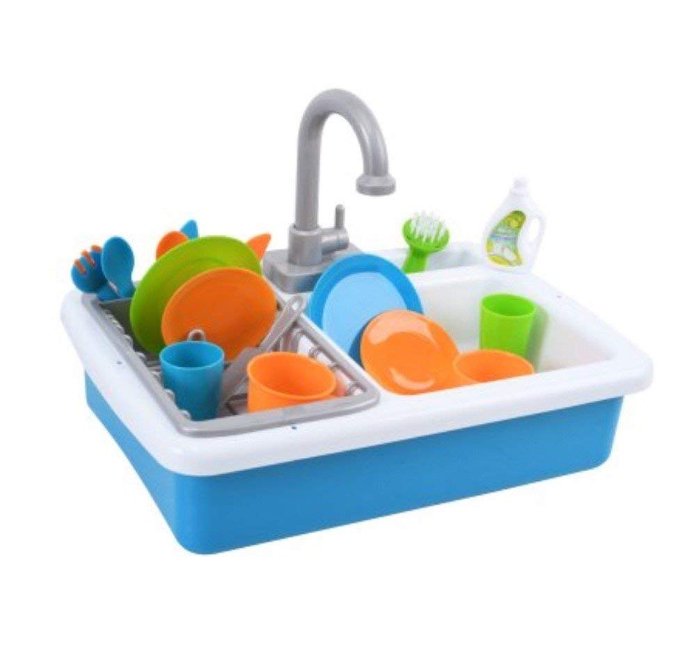 Spark Kitchen Sink and Spark Create Imagine Microwave Set Red and Blue Toy Bundle