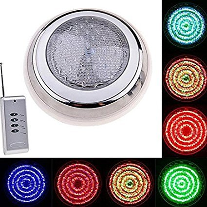 Leoneva 12V 558 LED RGB Underwater Swimming Pool Light 7 Colors Changing Bulb Submersible Waterproof Outdoor Fountain Lamp with Remote Control(US Stock) by Leoneva