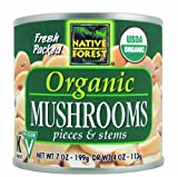 Native Forest, Organic Mushrooms, Pieces & Stems, 12/7 Oz