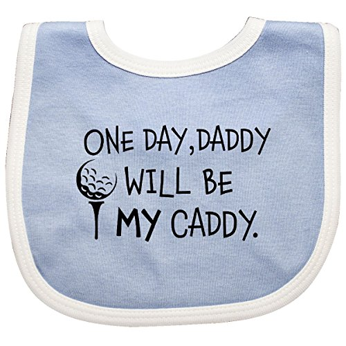 Inktastic - One Day, Daddy Will be MY Caddy- kids Baby Bib Blue/White 2c49a