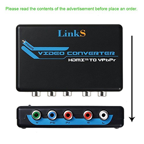 LinkS HDMI to Component Video (YPbPr) RGB 1080p + R/L Audio Output 2 Channels LPCM Converter Adapter Support PS3, PS4, Blu-ray DVD, XBOX, Notebook by LinkS