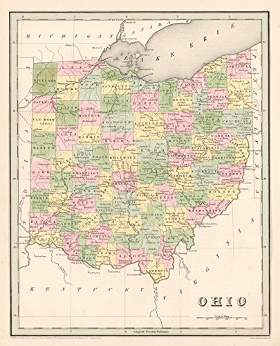 Historic Map | 1841 Ohio | Bradford, T.G. and S.G. ()