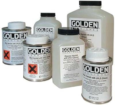 Golden Polymer Gloss Varnish with UVLS - 32 oz Bottle