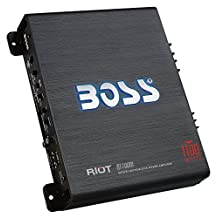 BOSS AUDIO R1100M Riot 1100-Watt Monoblock, Class A/B 2-8 Ohm Stable Monoblock Amplifier with Remote Subwoofer Level Control