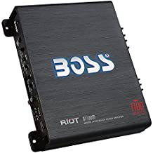 BOSS Audio R1100M - Riot 1100 Watt, 2/4 Ohm Stable Class A/B, Monoblock, MOSFET with Remote Subwoofer Control