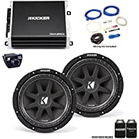 "Kicker 43C104 10"" Comp Subwoofers with 43DXA2501 DX-Series Amplifier with remote and wire kit"