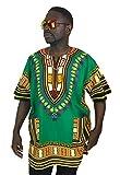 Vipada's Dashiki Shirt African Top Men's Dashiki Dark Green L
