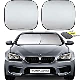 Autoamerics Windshield Sun Shade 2-Piece Foldable Car Front Window Sunshade for Most Compact Sports Cars - Auto Sun Blocker Visor Protector Blocks Max UV Rays and Keeps Your Vehicle Cool - (Small Fit): more info