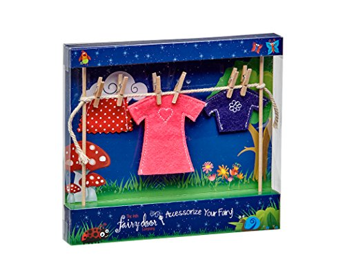 The Irish Fairy Door Company - Clothes Line with Female Clothes