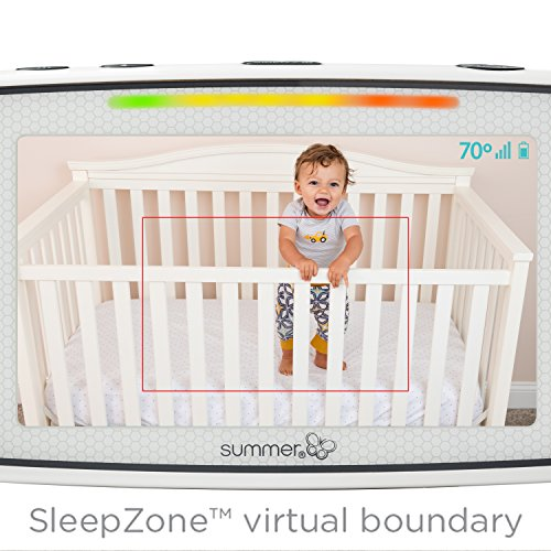 Summer Baby Pixel Video Baby Monitor with 5-inch Touchscreen and Remote Steering Camera - Baby Video Monitor with Clearer Nighttime Views and SleepZone Boundary Alerts by Summer Infant (Image #3)