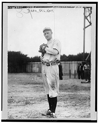 - 1914 Photo William Leopold Doak, St. Louis Cardinals baseball player, full-length portrait, facing front, standing, wearing uniform, about to pitch baseball Location: Missouri, Saint Louis