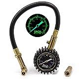 JACO BikePro Presta Tire Pressure Gauge 60 PSI - with Interchangeable Schrader Valve
