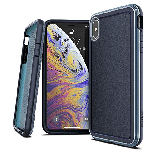 X-Doria Defense Ultra Series, iPhone Xs Max Case - Heavy Duty Protective Case with Anodized Aluminum Frame, Military Grade Drop Tested Case for Apple iPhone Xs Max, 6.5 Inch Screen, (Blue)