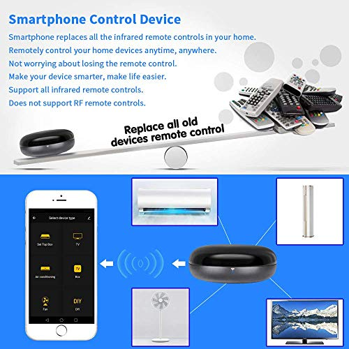 YTF Wifi Smart IR Control Hub, Smart Air Conditioner Controller Compatible  with Alexa, Universal Infrared Controller for Smart Home, Smart Life APP