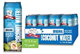 Amy & Brian Non-GMO Coconut Water, Original 17.5 oz Can (Pack of 12) | Gluten Free & No Added Sugar | Refreshing & Hydrating Real Coconut Water